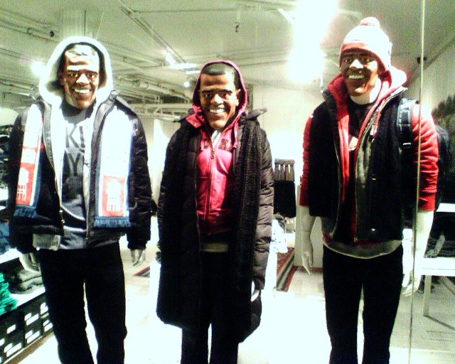 Barack Obama mannequins by Brooklyn Industries