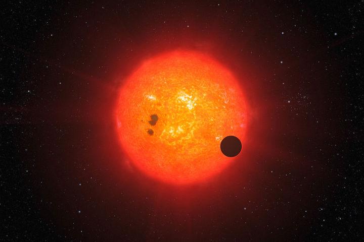 красный и планета