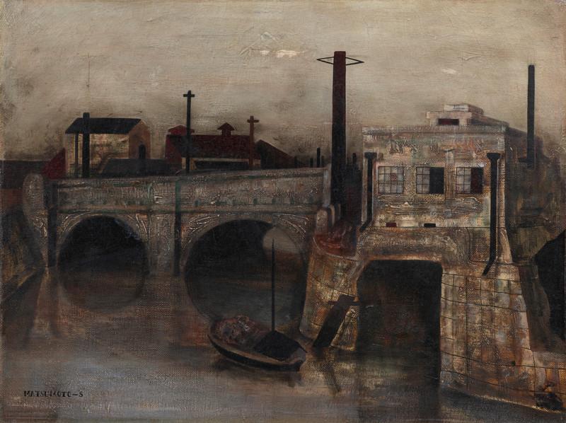 Shunsuke Matsumoto - Canal View (1943)