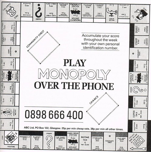 In the 80's, you could play Monopoly by phone!