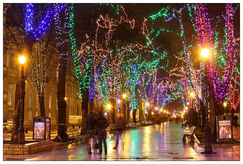 Картинки ночная одесса зимой