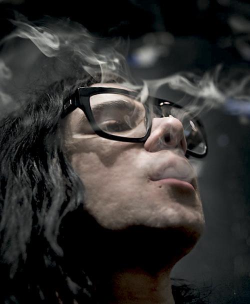 Skrillex+Chain+smokin+nicotine