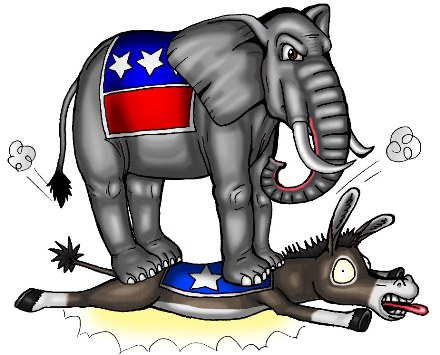 RepublicanElephantVSDemocratDonkey
