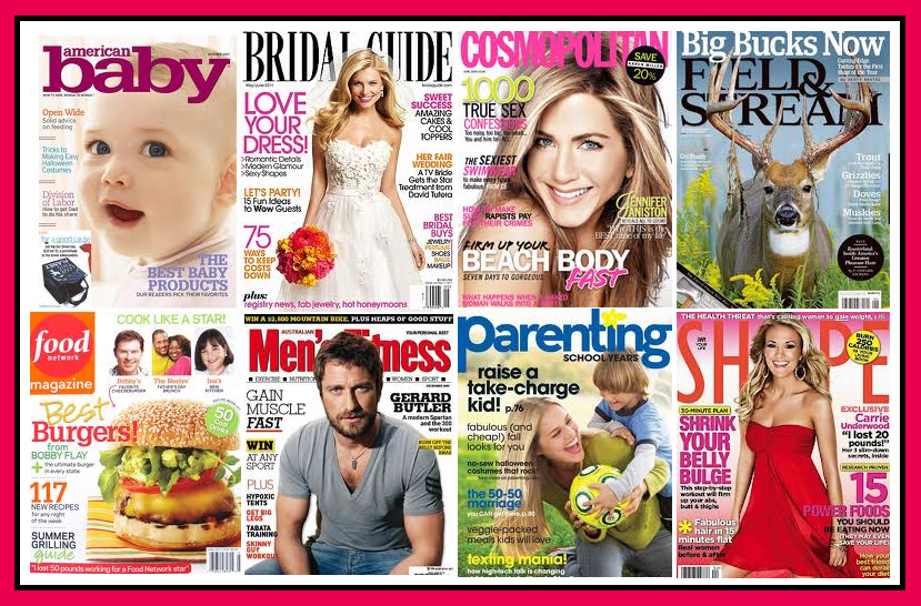 free-magazine-subscriptions-american-baby-bridal-guide-cosmopolitan-field-stream-food-network-mens-fitness-parenting-shape