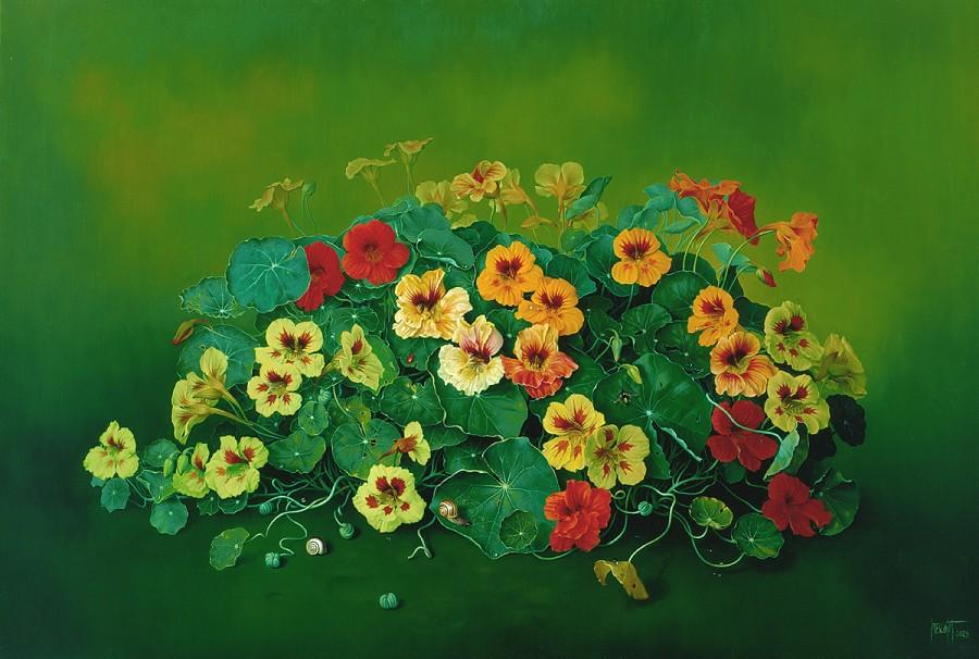 NASTURTIUM THIKET  Oil on canvas  61x91 cms  2005  copy