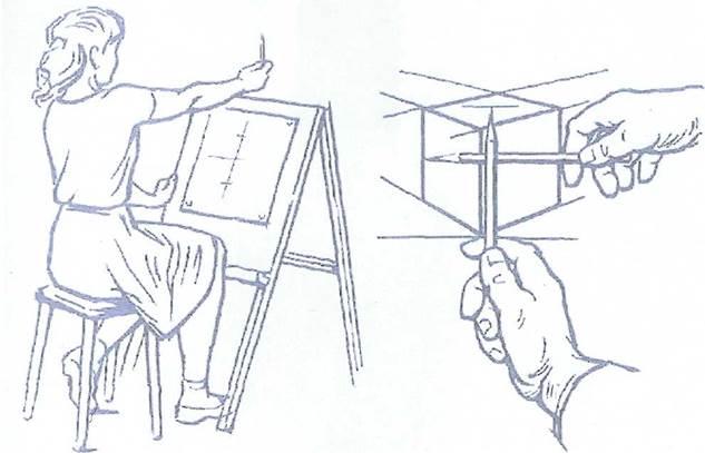 пойти, как измерить карандашом сложную картинку быть