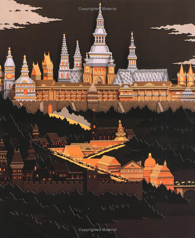 Иллюстрации к сказкам из бумаги от David Wiesnewski