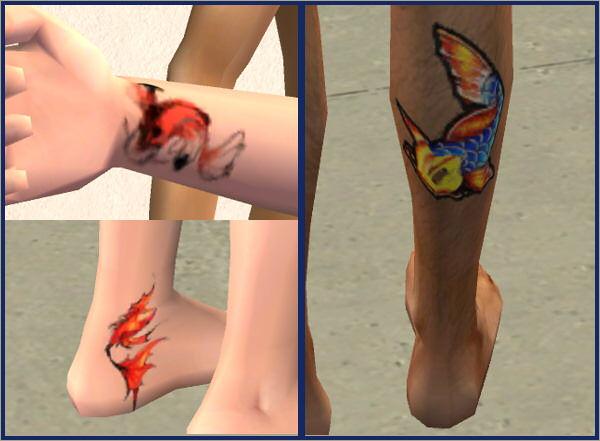 Female Small Koi Combo Right Inner Wrist Left Inner Ankle