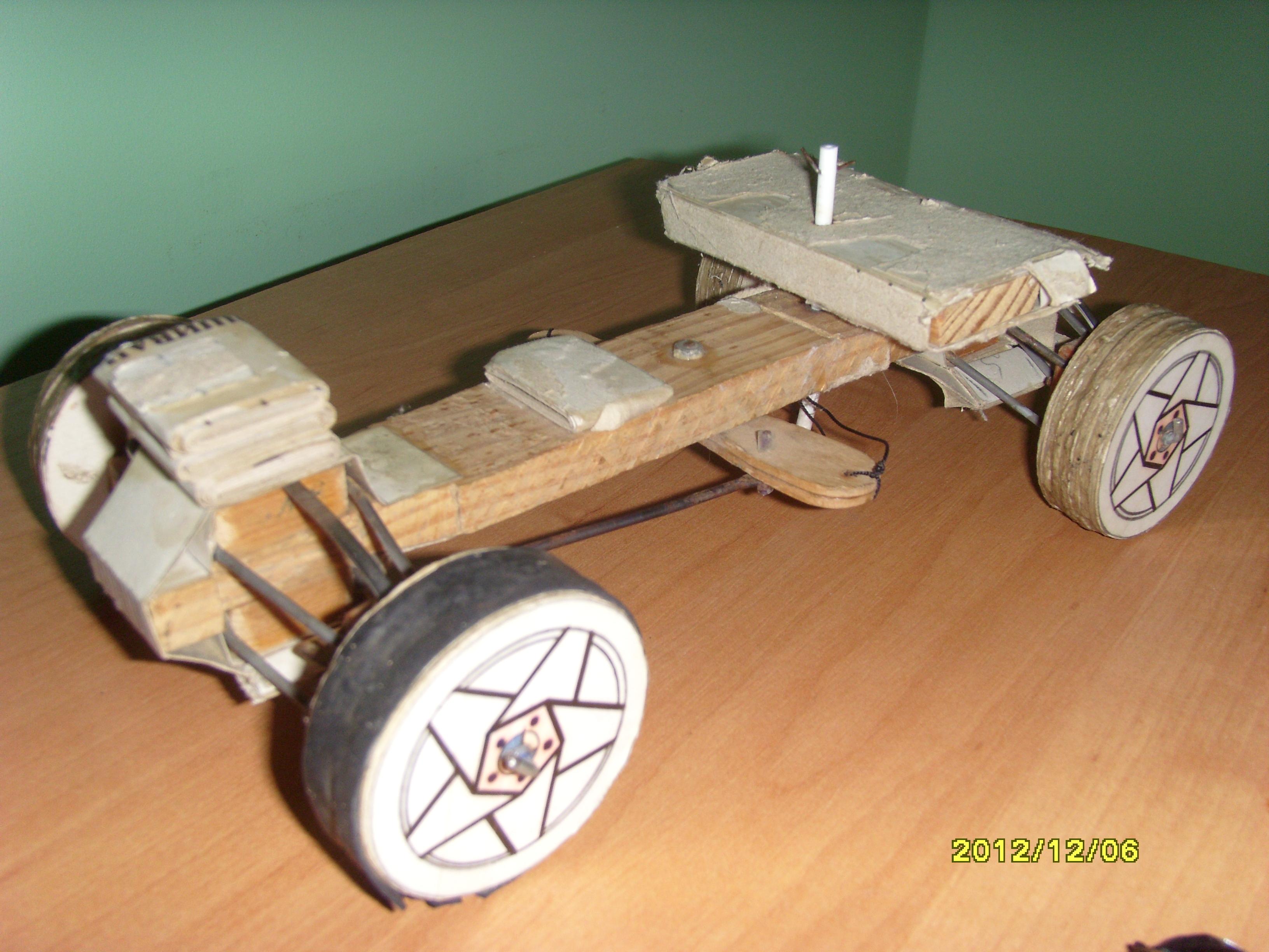 Как сделать машину из дерева чтобы ездить на ней