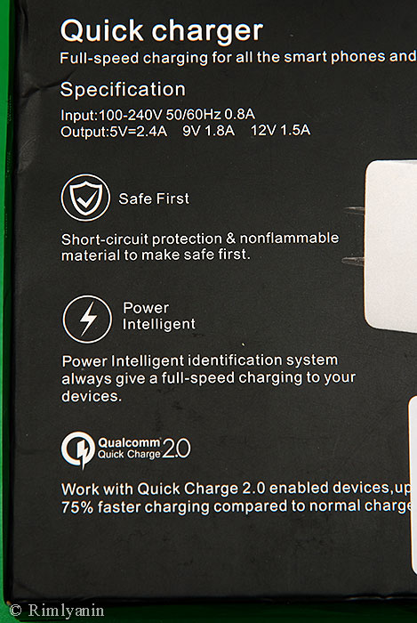 Itian Quick Charge Qualcomm QC 2.0 TCAU15E-050912 EU Plug Power Adapter Wall Charger