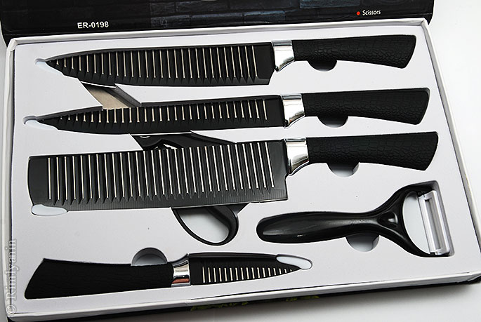 Everrich ER-0198 Kcasa KC-3Cr13II Stainless Steel Kitchen Knife Set