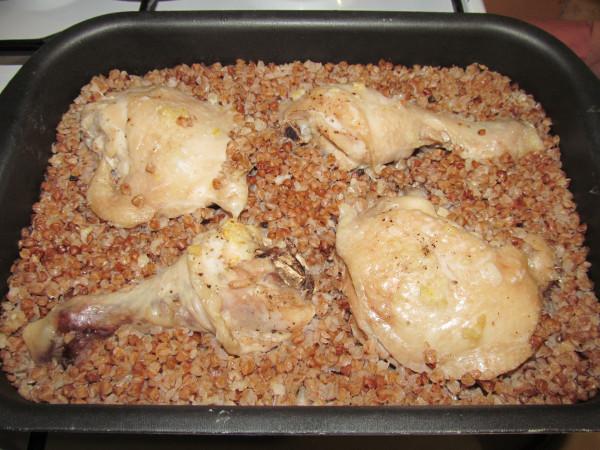 Окорочка в духовке с гречкой рецепт 143