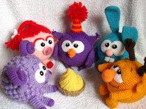 Вязание крючком игрушка смешарики
