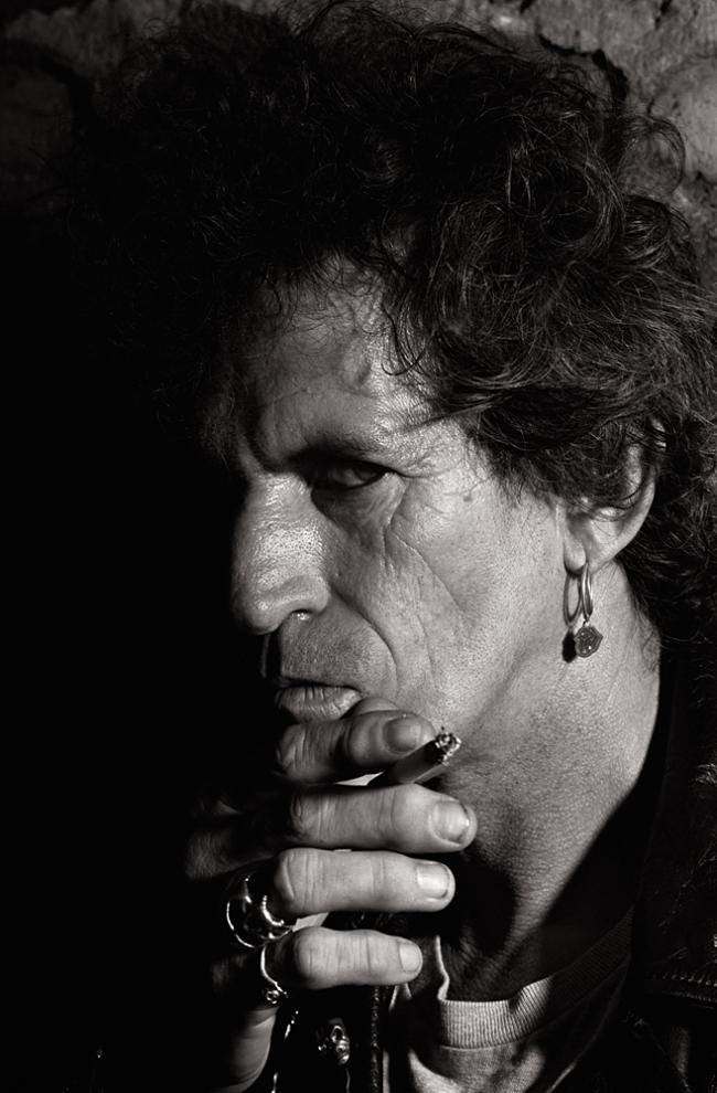 4108 Keith Richards 1990 Photo by Gottfried Helnwein