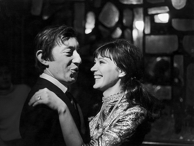 1956 Serge Gainsbourg and Anna Karina