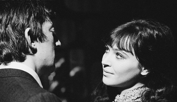 1957 Serge Gainsbourg and Anna Karina