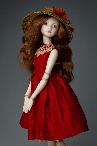 фарфоровые куклы в красном платье если собираетесь