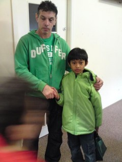 Iman with one of the volunteers, Steve