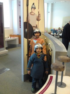 Putting on the medieval war ware