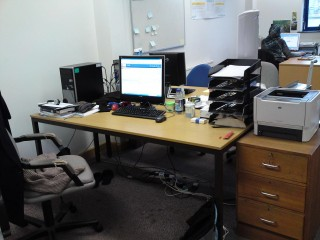 I get my own study area, they call it 'the office' (obviously!)