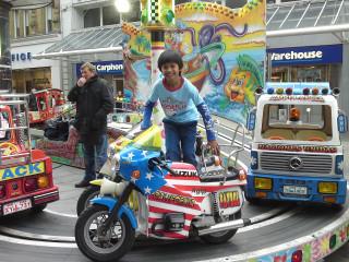 Iman the double-biker!