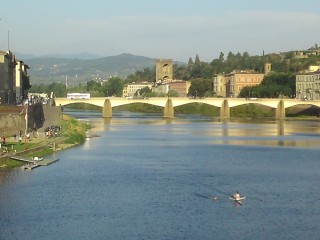 The famous view of Florence