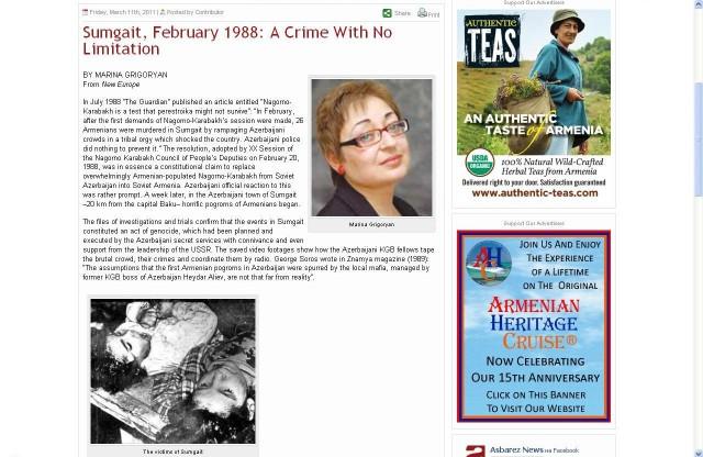 фото убитых армянскими вандалами в феврале 1992 года в Ходжалы сестер Айсель и Гюльмиры Мехтиевых выдается армянами за «жертв Сумгаита».