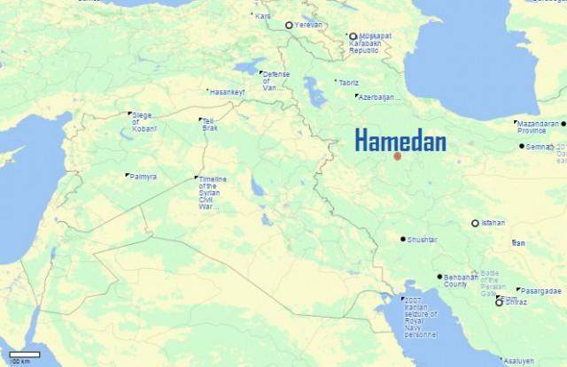 Хамадан карта