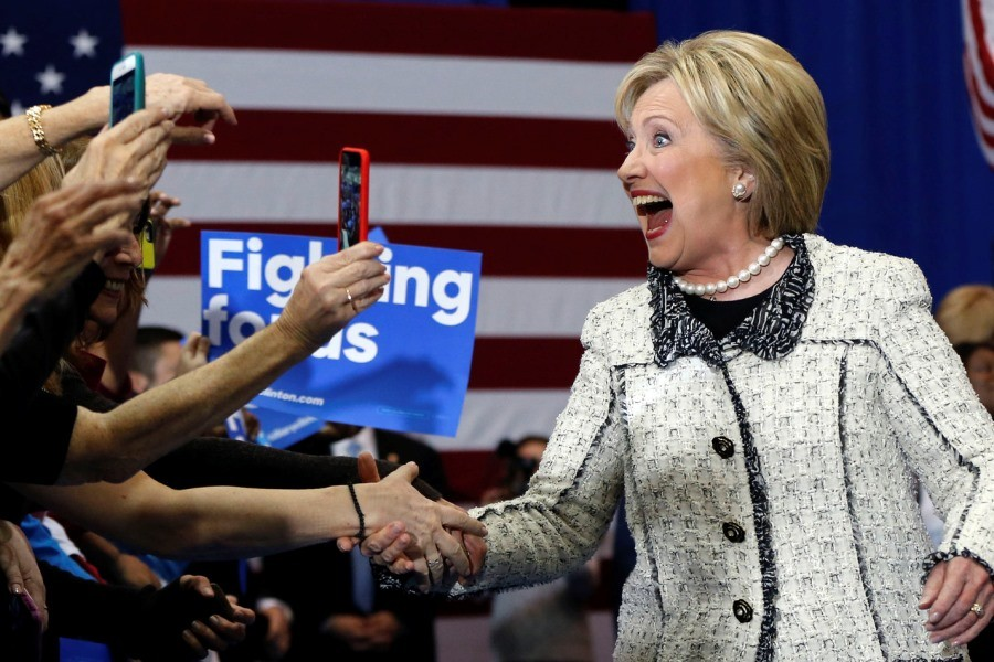 Х. Клинтон на выборах