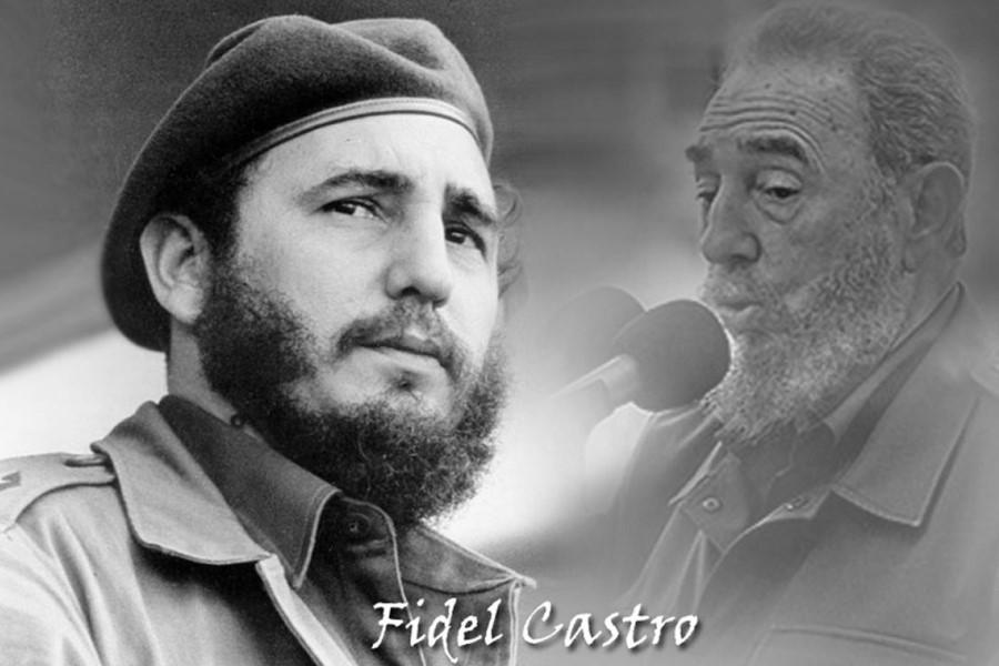 Фидель Кастро в молодости и в старости