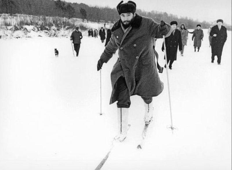 Фидель на лыжах