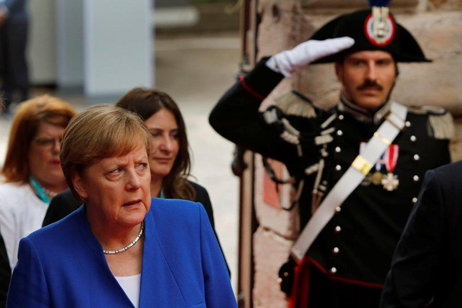 Меркель на саммите G7 в Таормине