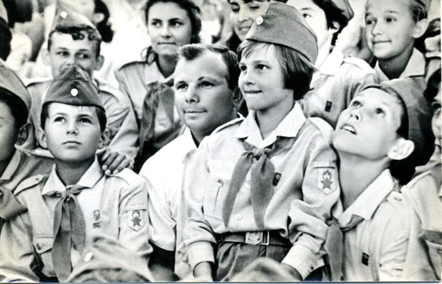 Гагарин в Артеке