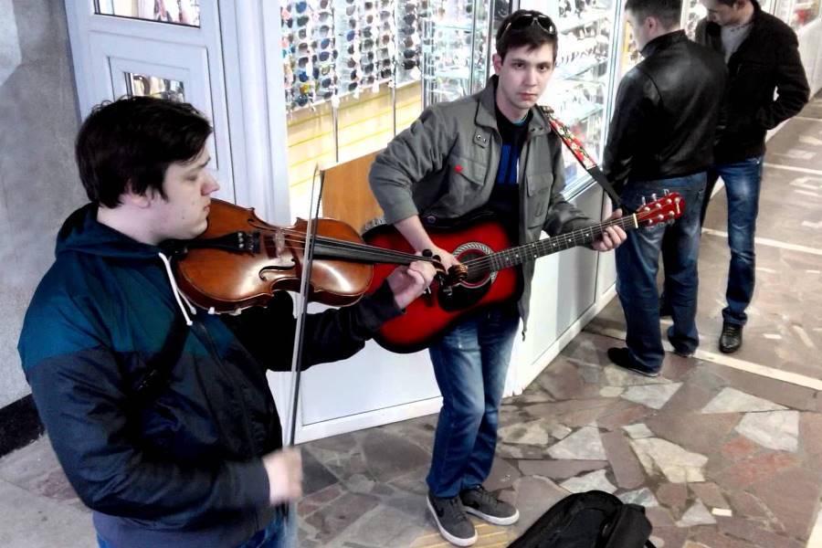 Музыканты в метро