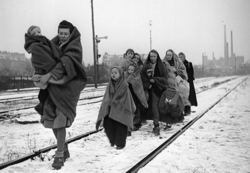 Немецкие беженцы из Лодзи 1945
