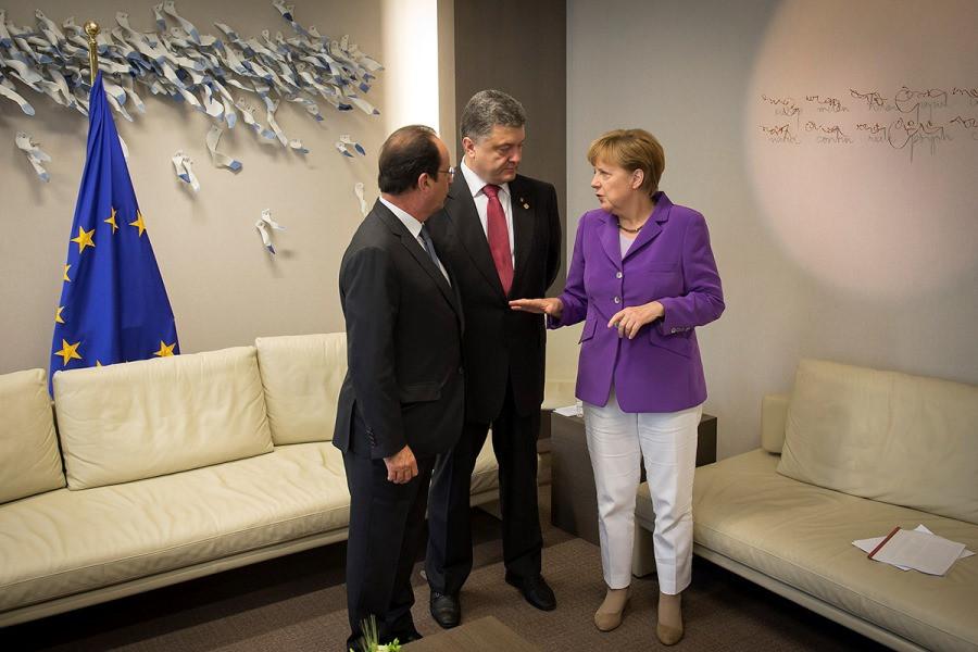 Оланд Меркель Порошенко