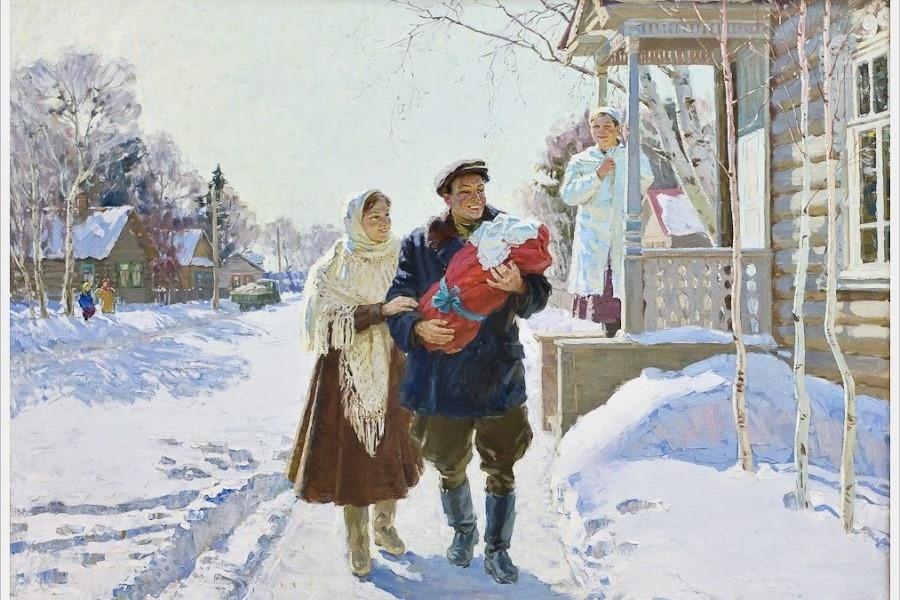 Овчинников Николай Васильевич (Россия, 1918 - 2004) «Первенец» 1963