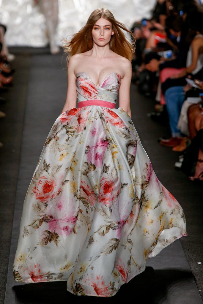 Robe Longue Avec L Imprim E De Fleur Fashion Week De New York Printemps T 2015 Addicted In