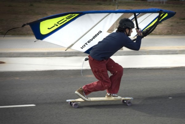kite wing skateboarder