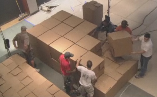 cardboard moving boxes become crash pads