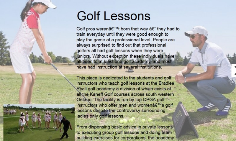 new hive roberrific golf lessons