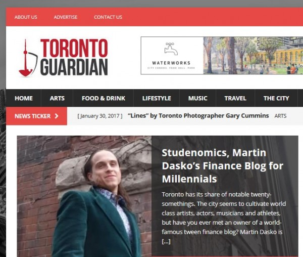 Martin Dasko on Toronto Guardian, 31st Jan 2017