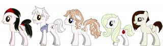 secondary cast of 'Hiraeth' as ponies