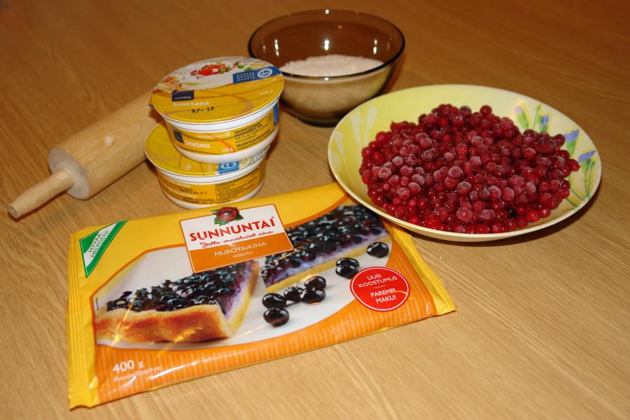 пирог с брусникой_ингредиенты