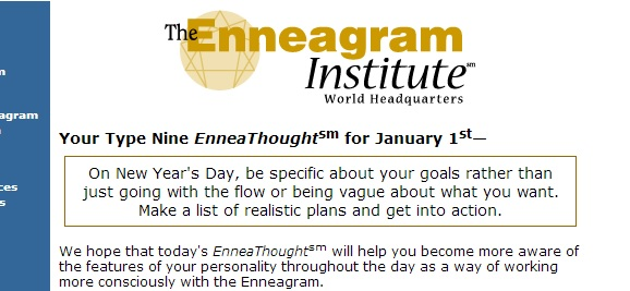 New Years EnneaThought