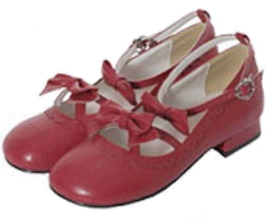 Bodyline Ribbon Heels in Red