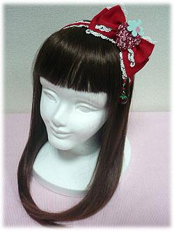 AP Strawberry Ribbon Headbow in Red