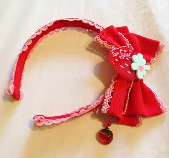 Strawberry Headbow (Red x Pink)