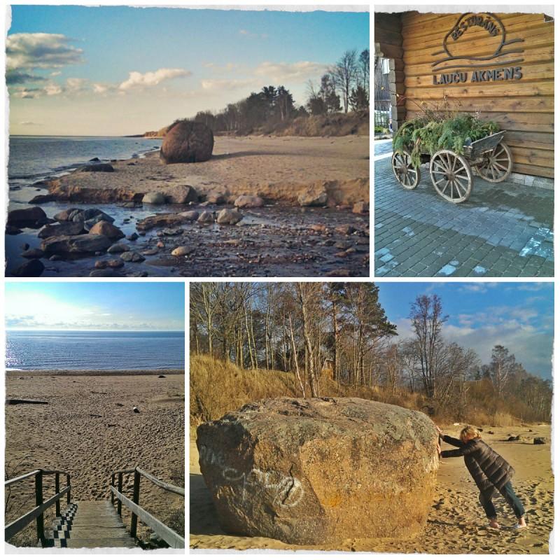 Балтийский берег: валун Лаучу в Скулте