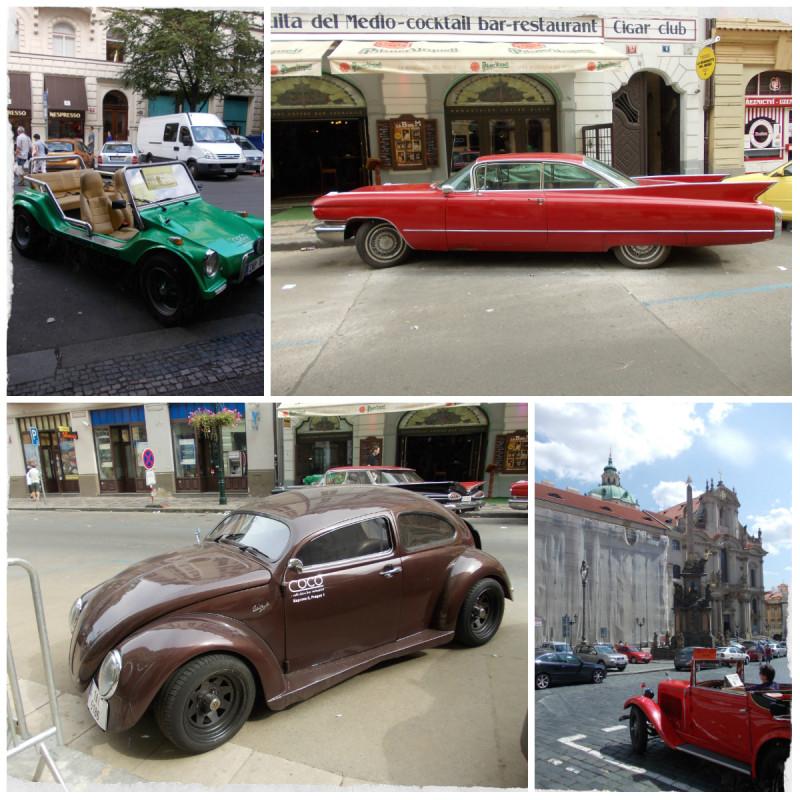 Автомобили на улице в Праге